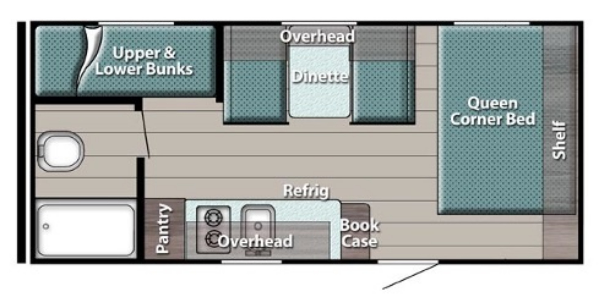 View Floor Plan for 2021 GULF STREAM ENVISION 18RBD
