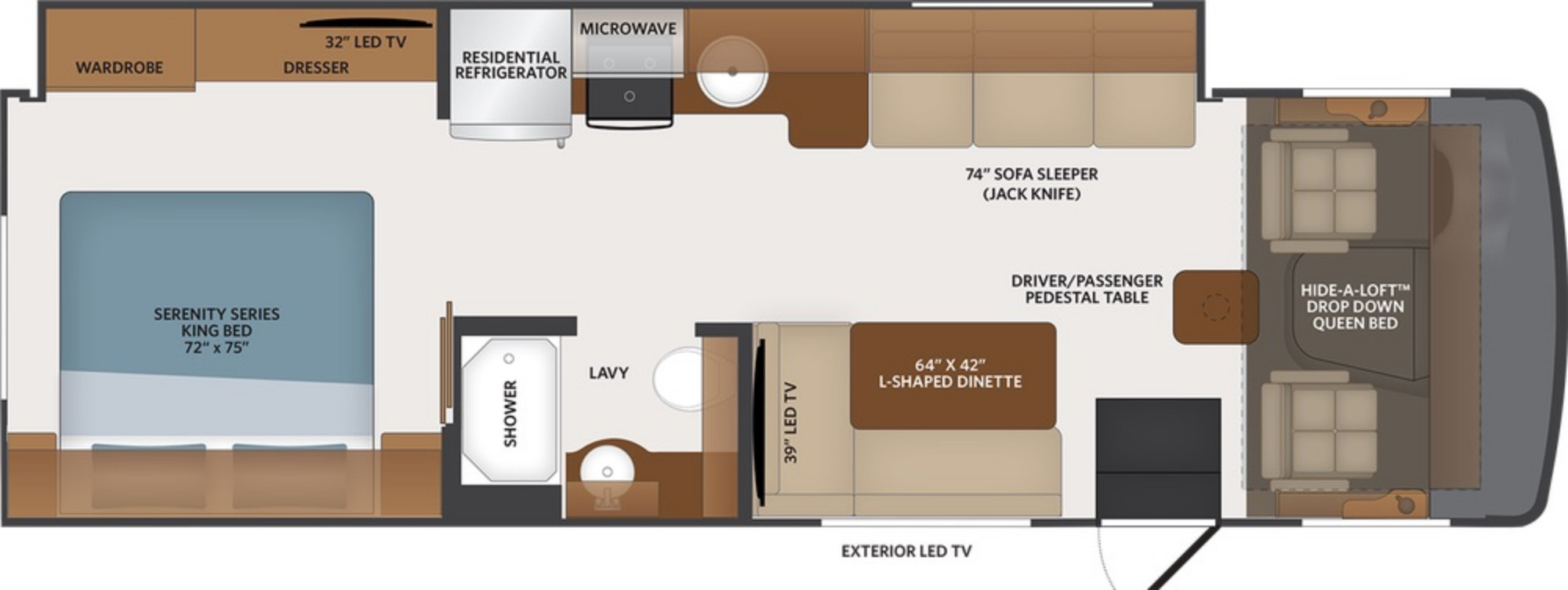 View Floor Plan for 2021 FLEETWOOD FLAIR 29M