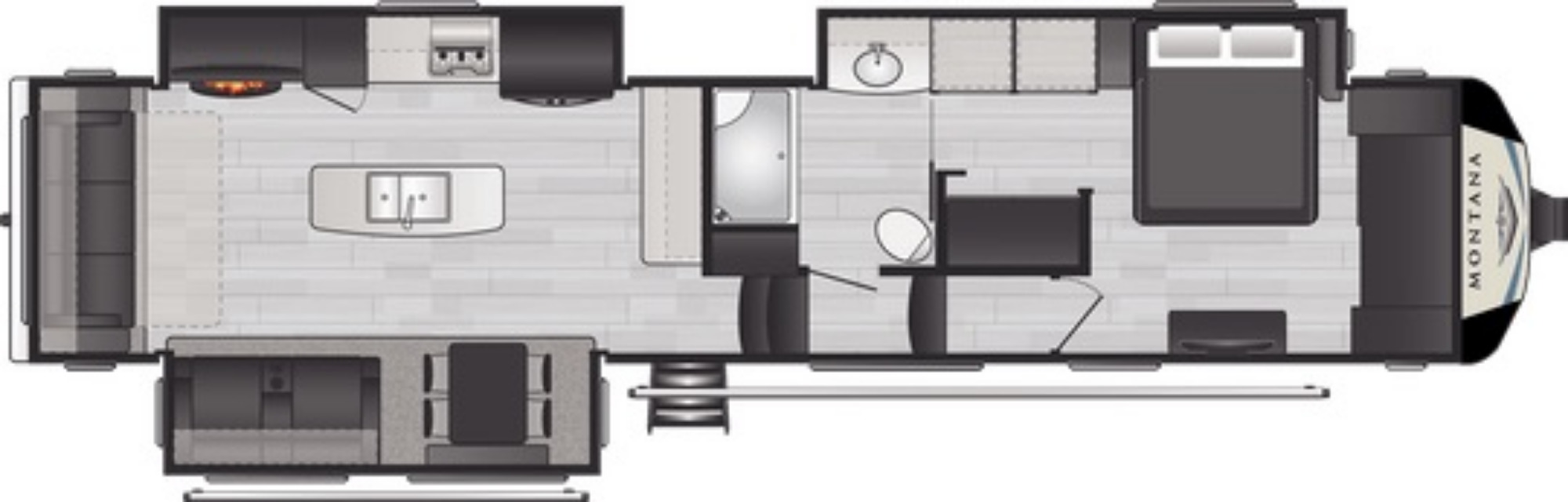 View Floor Plan for 2021 KEYSTONE MONTANA 3813MS