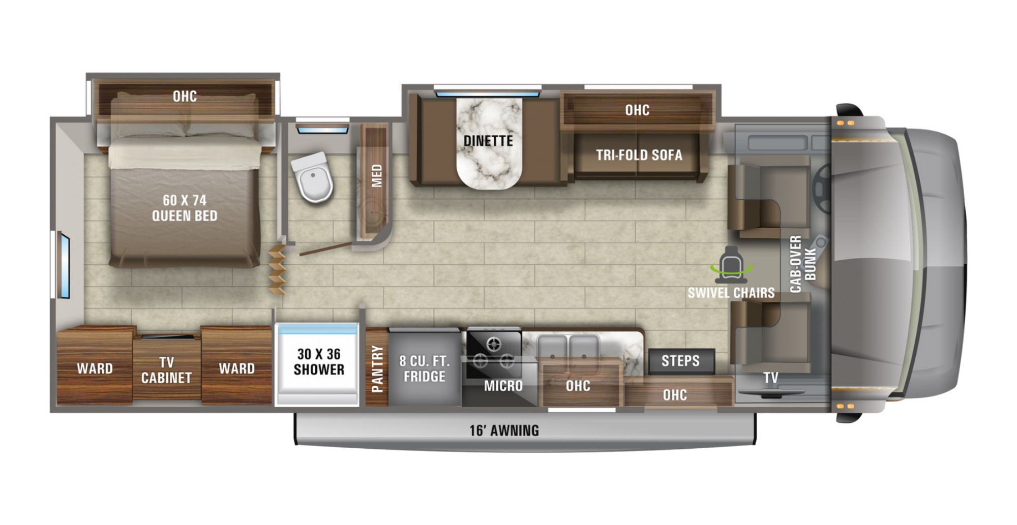 View Floor Plan for 2021 JAYCO GREYHAWK 29MV