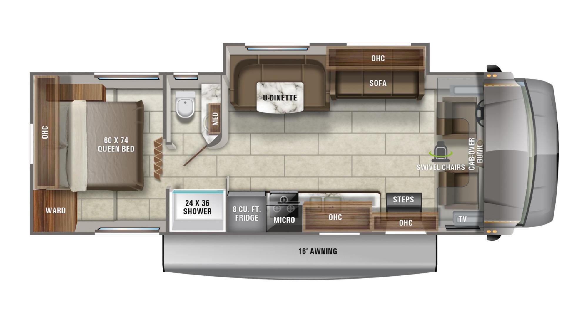 View Floor Plan for 2021 JAYCO REDHAWK 29XK