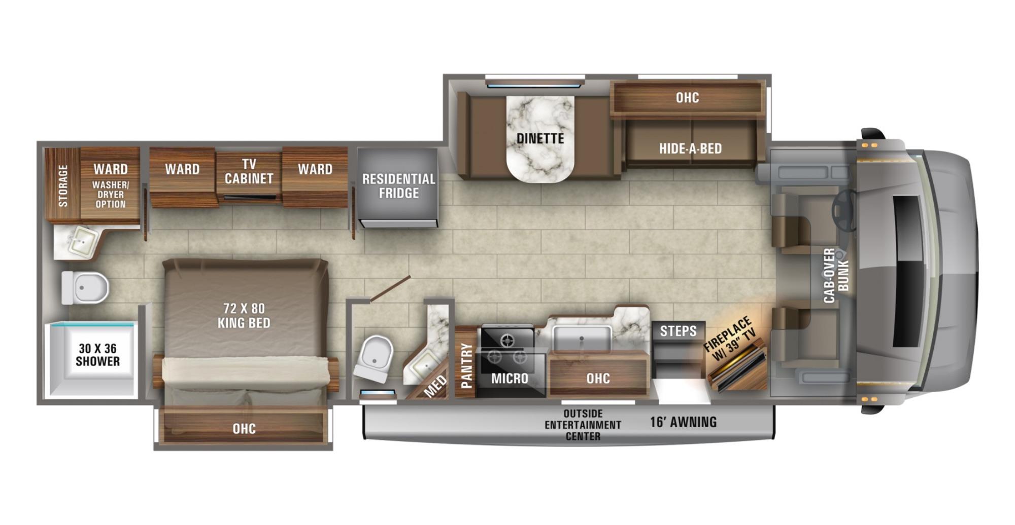 View Floor Plan for 2021 JAYCO SENECA 37RB