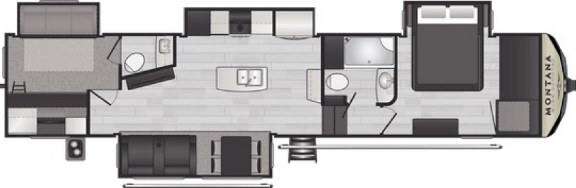 View Floor Plan for 2021 KEYSTONE MONTANA HIGH COUNTRY 365BH