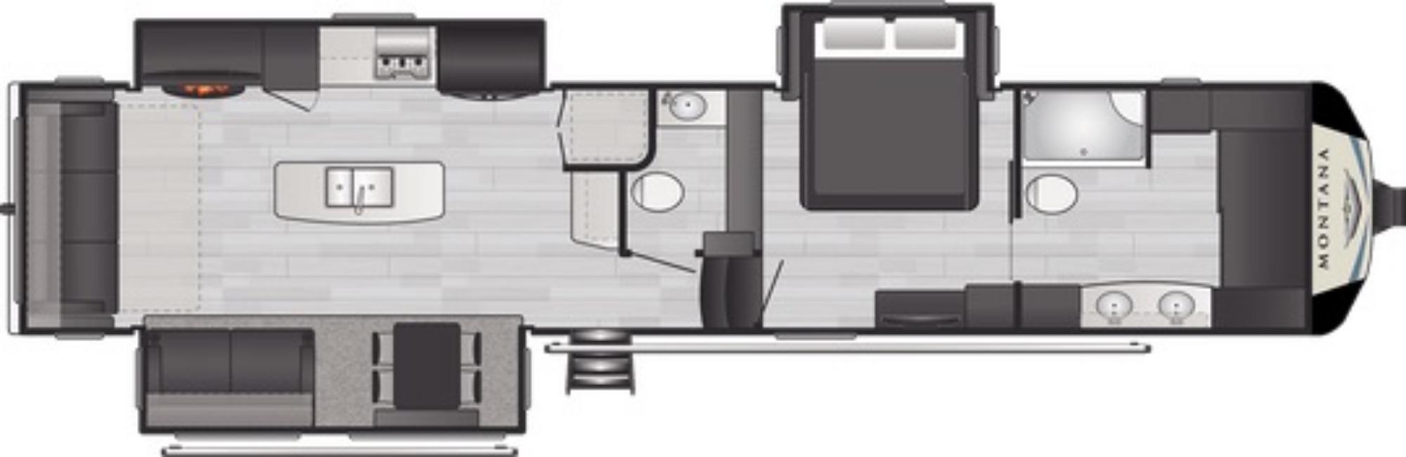 View Floor Plan for 2021 KEYSTONE MONTANA 3930FB