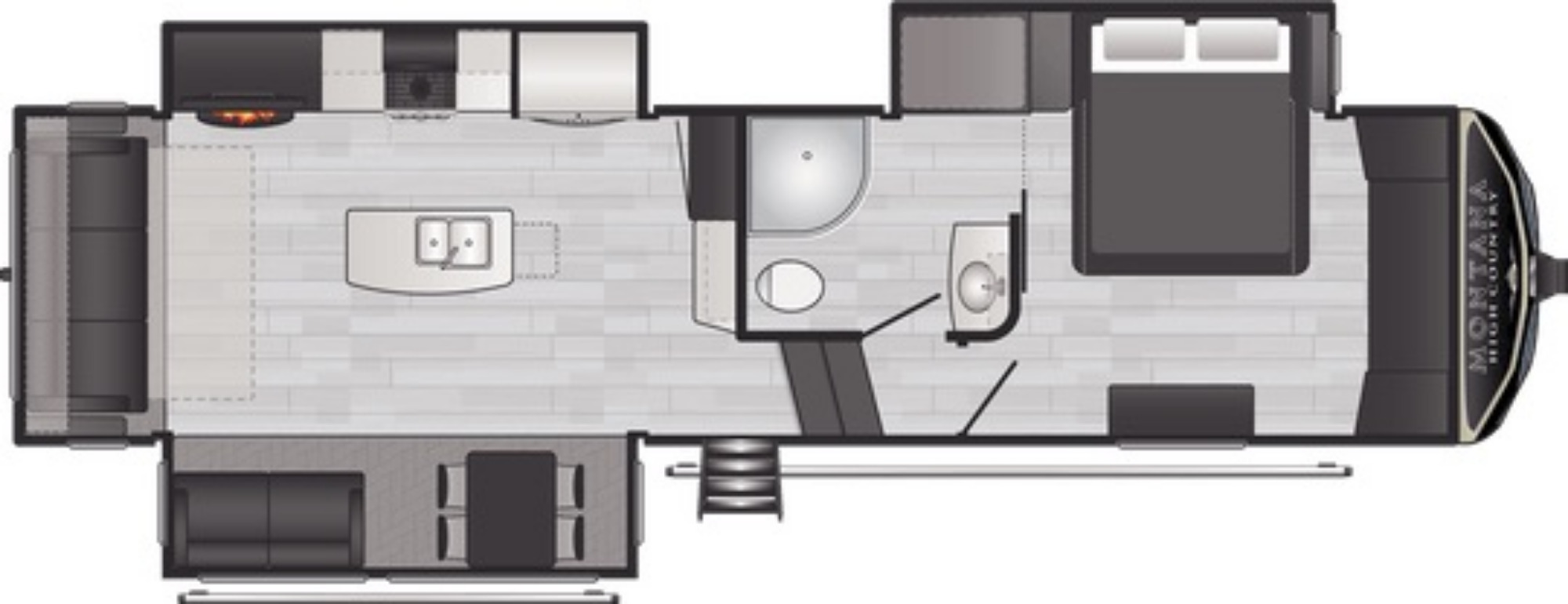 View Floor Plan for 2021 KEYSTONE MONTANA HIGH COUNTRY 294RL
