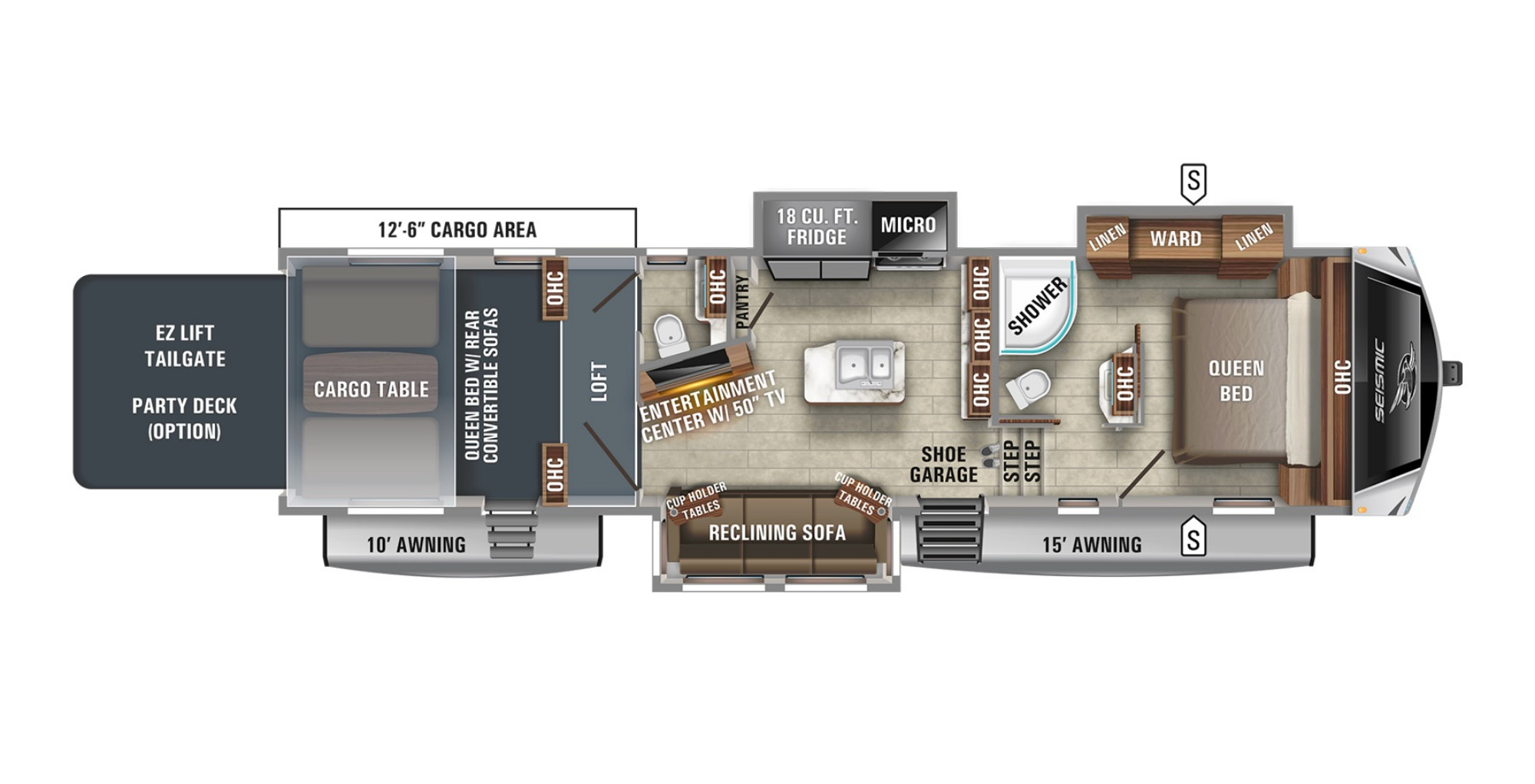 View Floor Plan for 2021 JAYCO SEISMIC 3512
