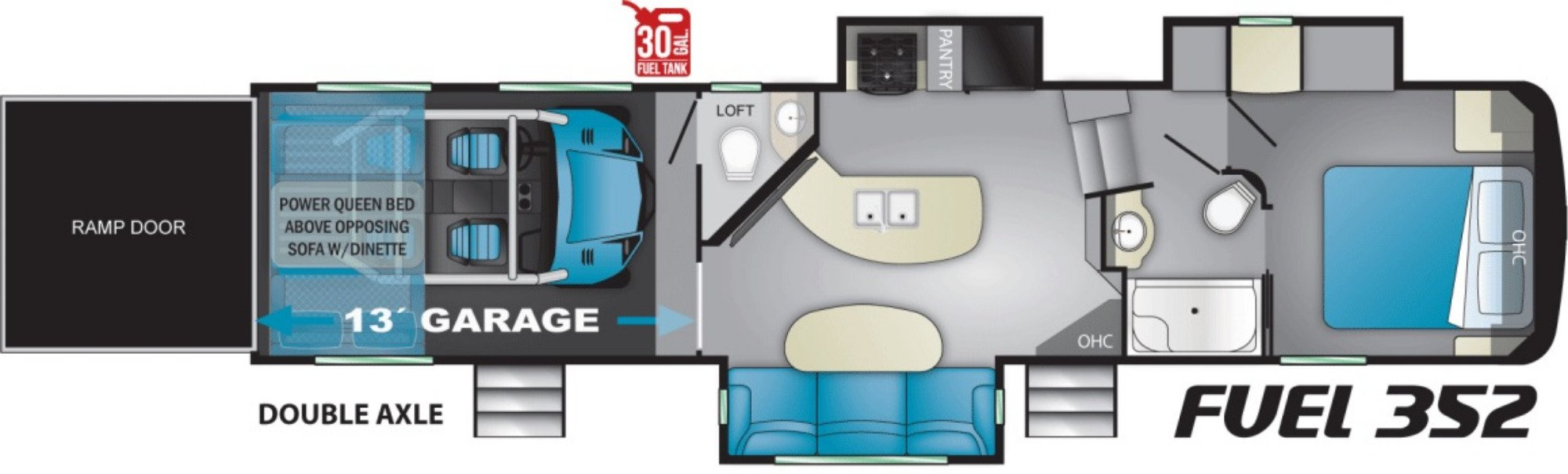 View Floor Plan for 2021 HEARTLAND FUEL 352