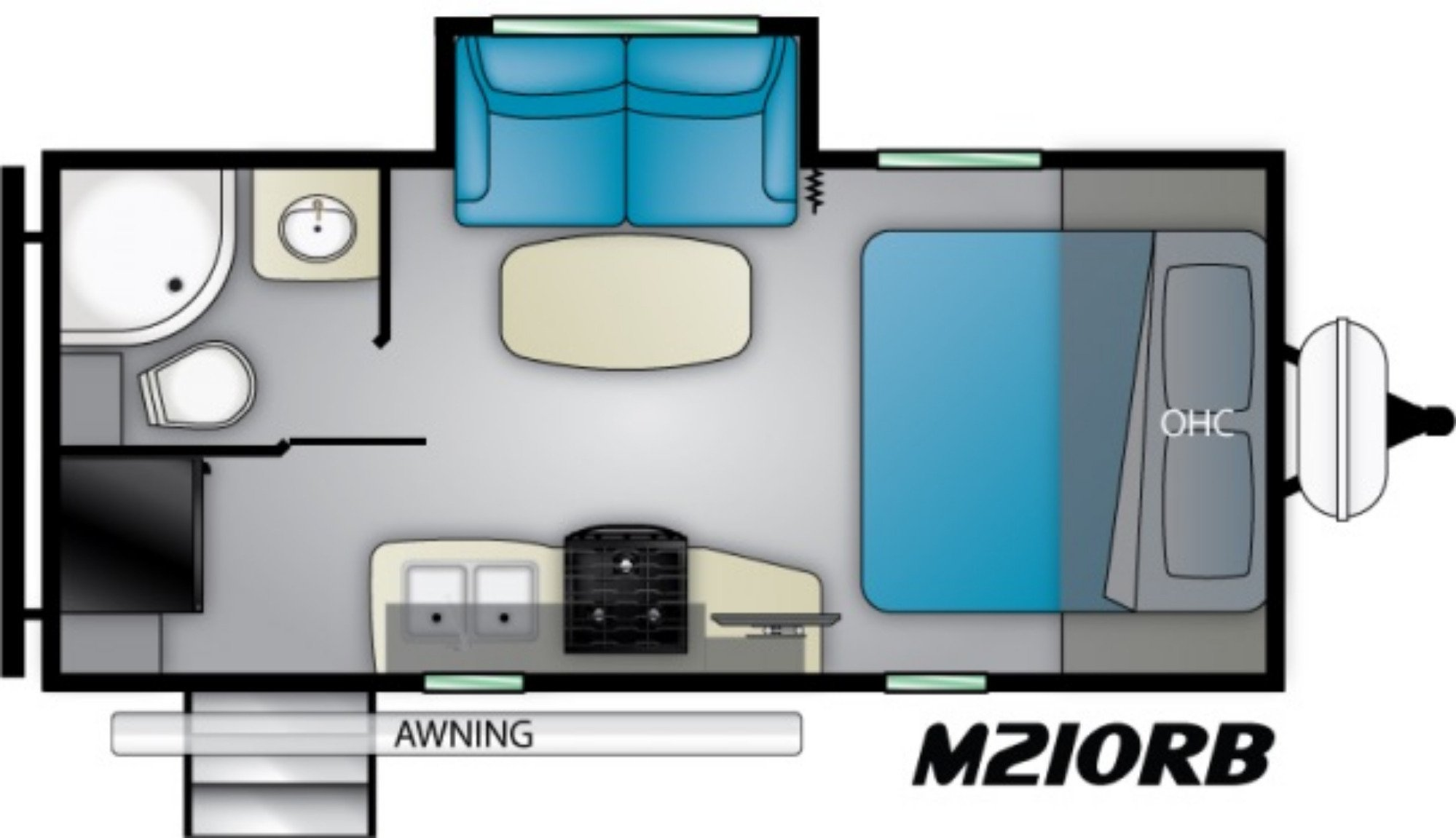 View Floor Plan for 2021 HEARTLAND MALLARD IDM210RB