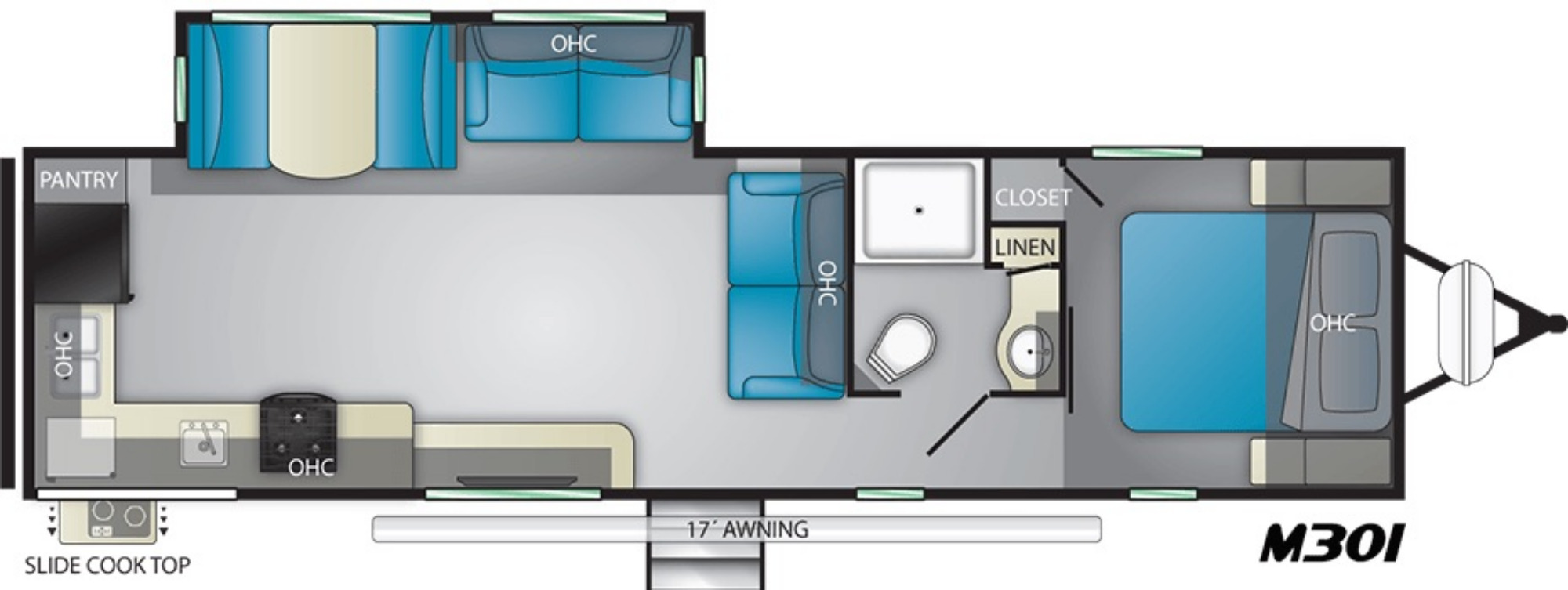 View Floor Plan for 2021 HEARTLAND MALLARD IDM301