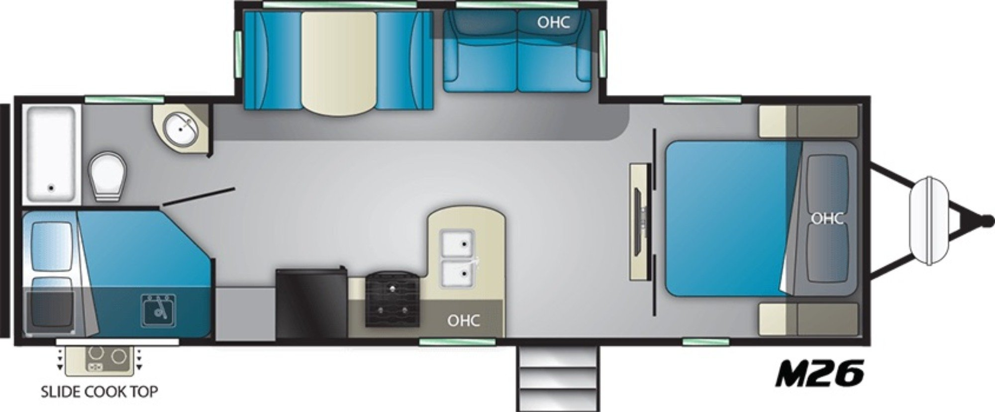View Floor Plan for 2021 HEARTLAND MALLARD M26
