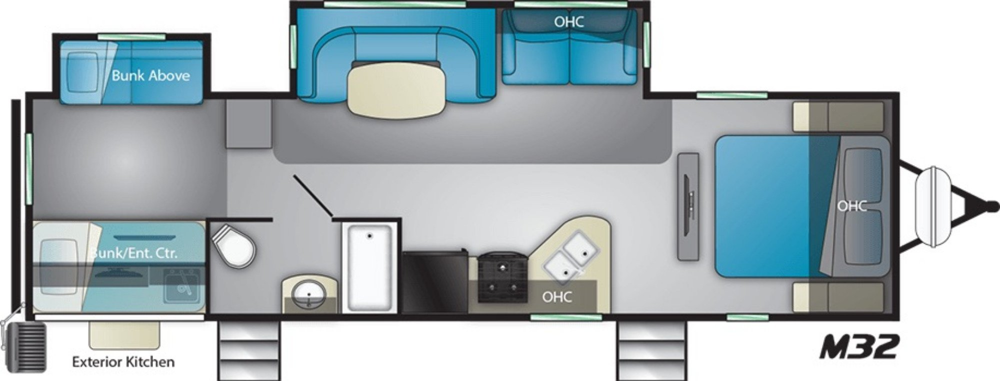 View Floor Plan for 2021 HEARTLAND MALLARD M32
