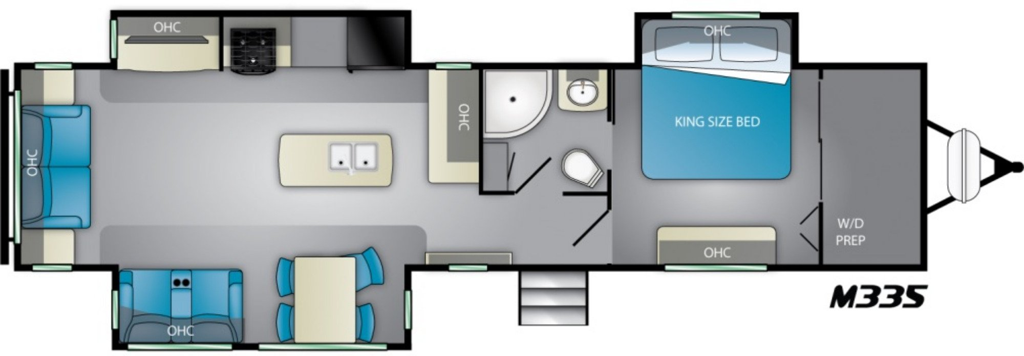 View Floor Plan for 2021 HEARTLAND MALLARD M335