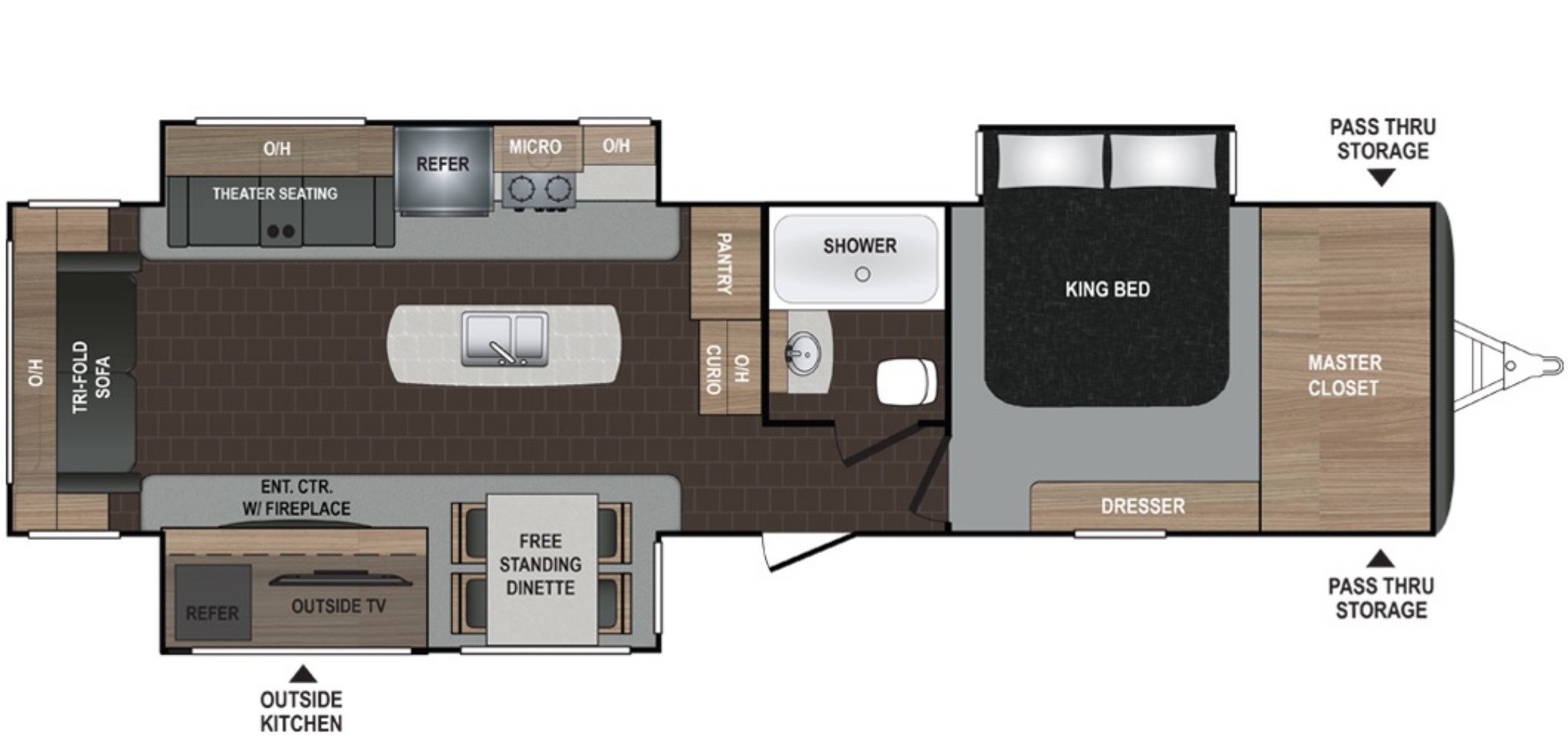 View Floor Plan for 2021 DUTCHMEN ATLAS 3302RL