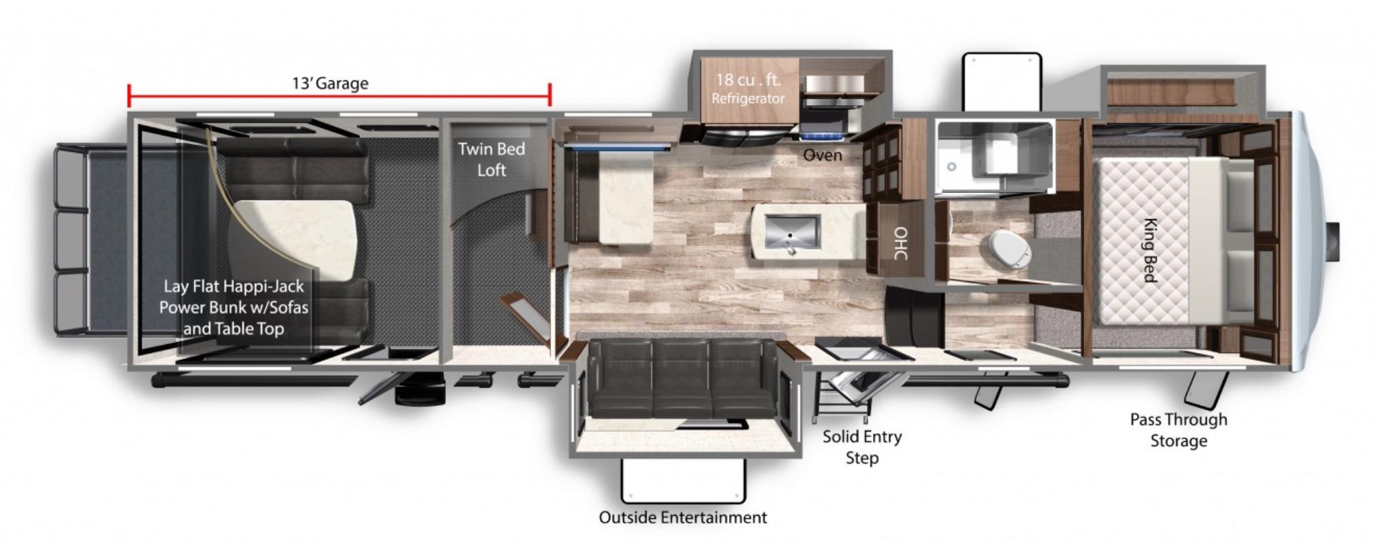 View Floor Plan for 2021 DUTCHMEN VOLTAGE 3635