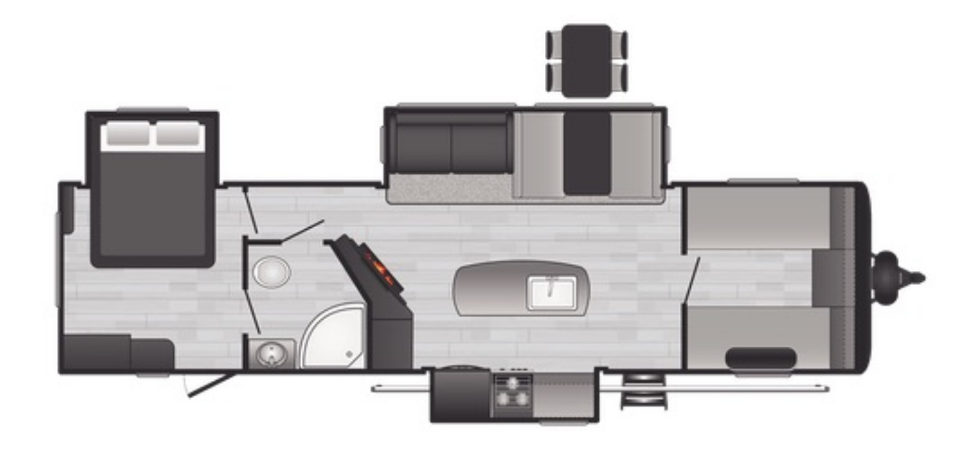 View Floor Plan for 2021 KEYSTONE HIDEOUT 32FBTS