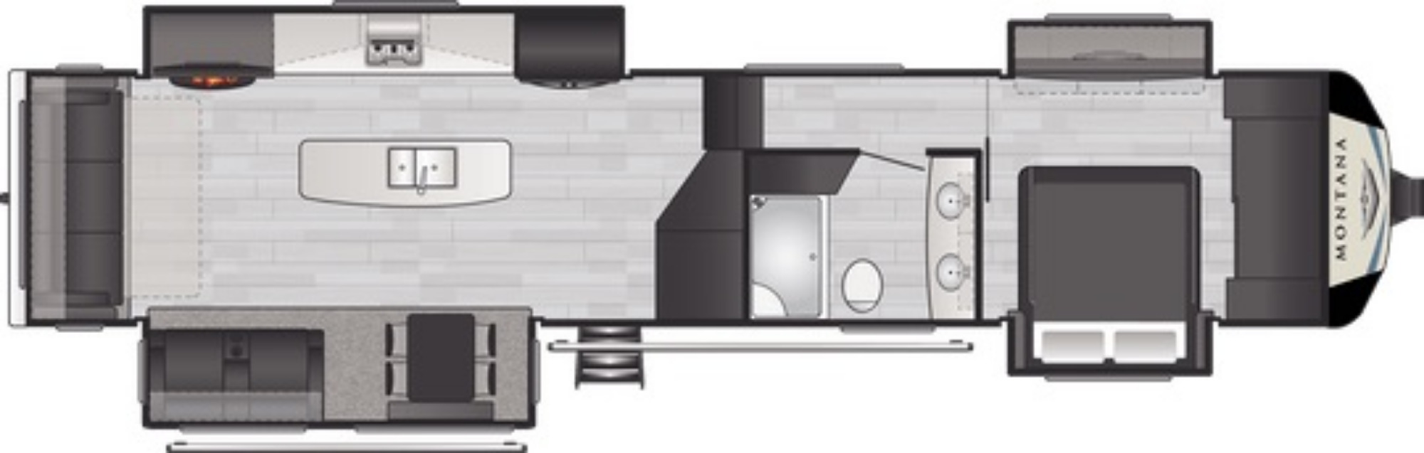 View Floor Plan for 2021 KEYSTONE MONTANA 3780RL