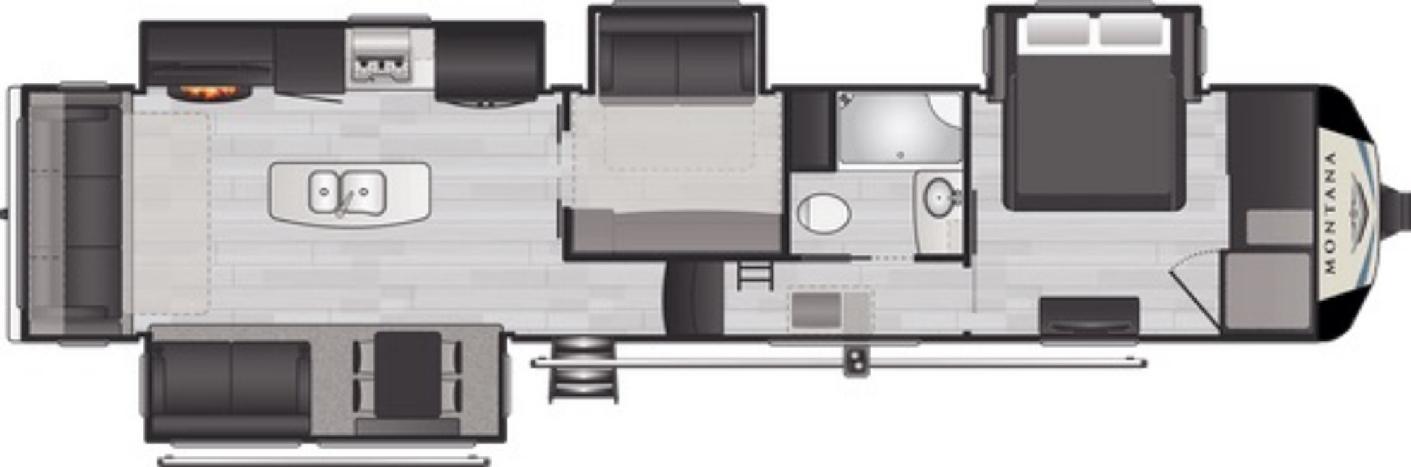 View Floor Plan for 2021 KEYSTONE MONTANA 3854BR