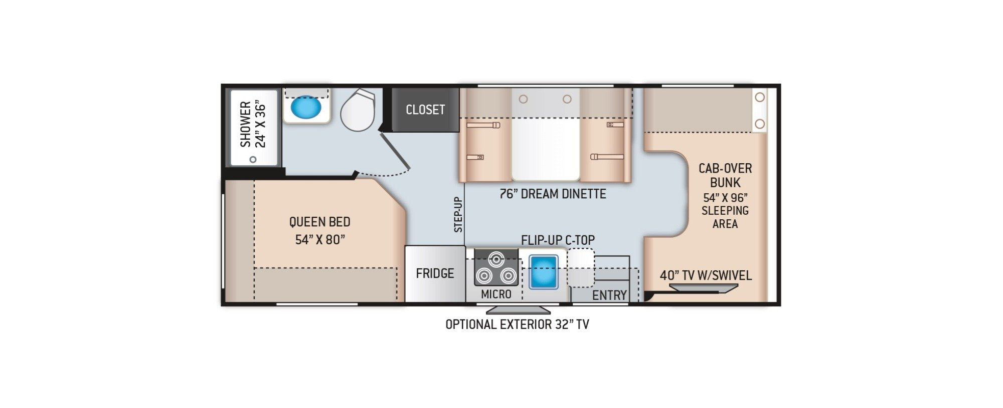 View Floor Plan for 2021 THOR CHATEAU 22E
