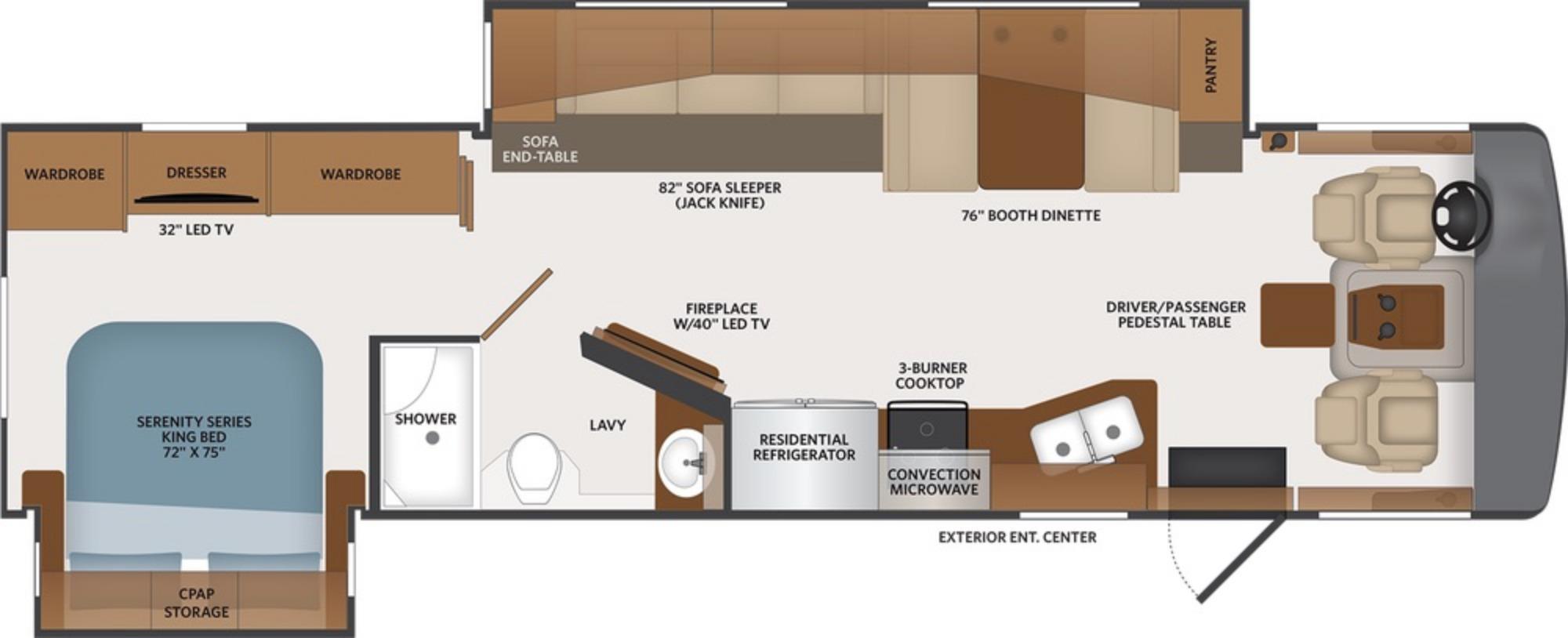 View Floor Plan for 2021 FLEETWOOD BOUNDER 33C
