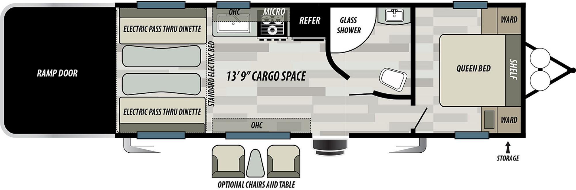 View Floor Plan for 2021 FOREST RIVER SHOCKWAVE 24RQMX
