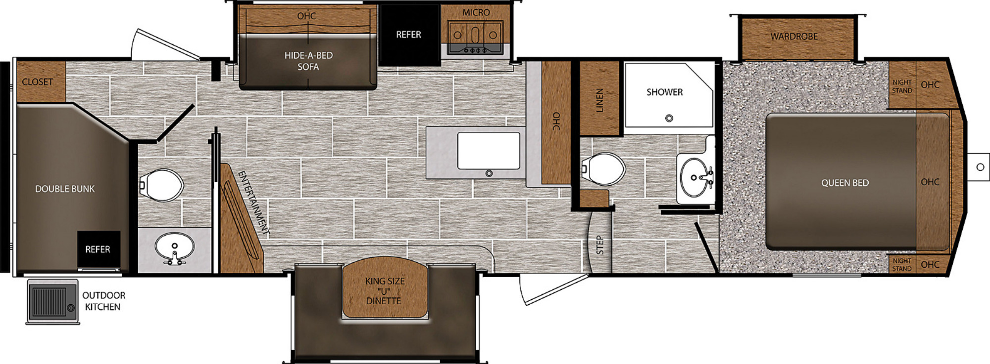 View Floor Plan for 2021 PRIME TIME CRUSADER LITE 33BH