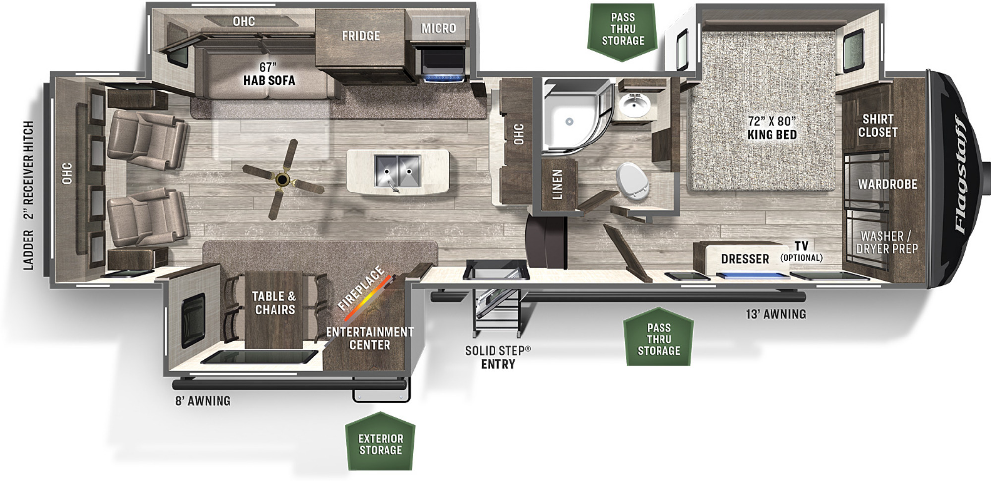 View Floor Plan for 2021 FOREST RIVER FLAGSTAFF CLASSIC SUPER LITE 8529IKSB