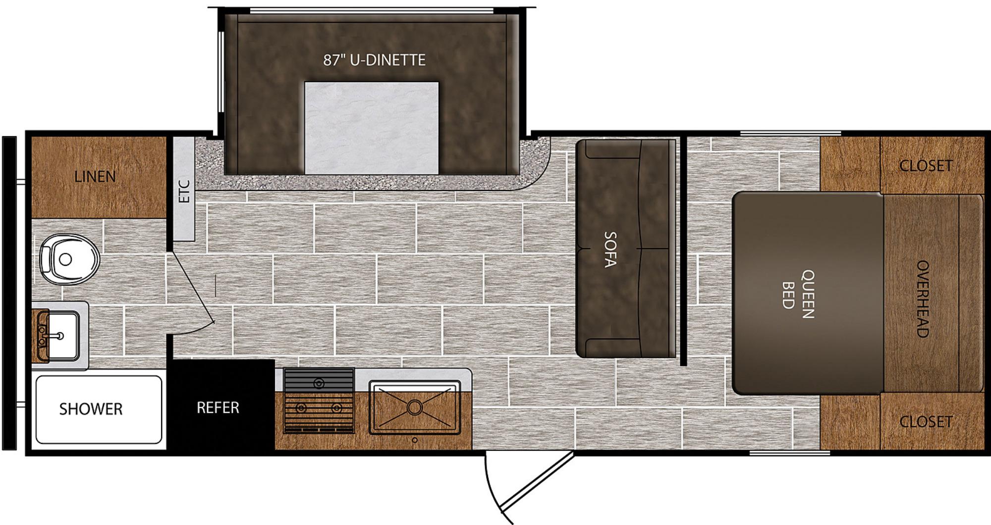 View Floor Plan for 2021 PRIME TIME AVENGER 21RBS
