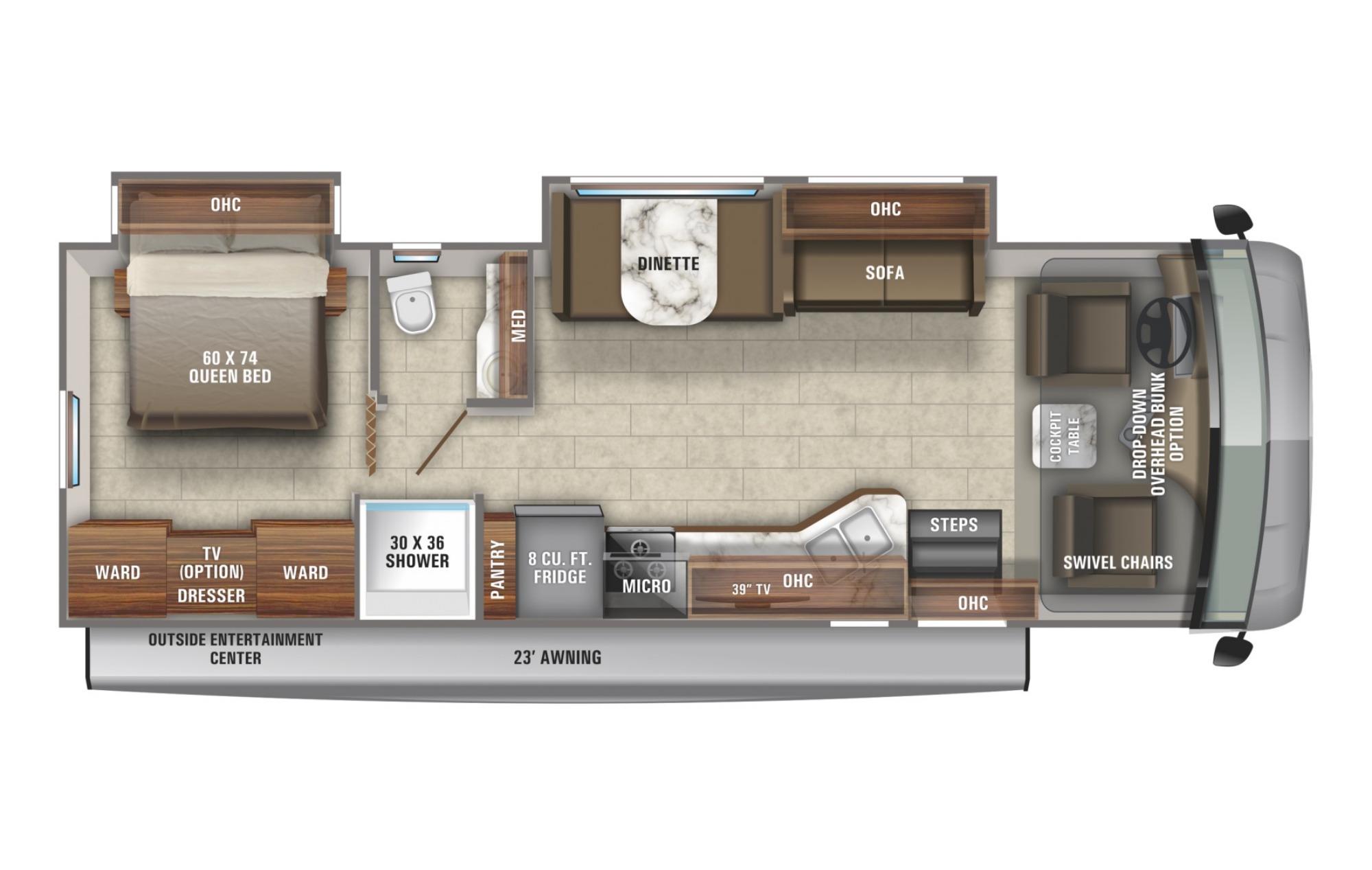 View Floor Plan for 2021 JAYCO ALANTE 31V
