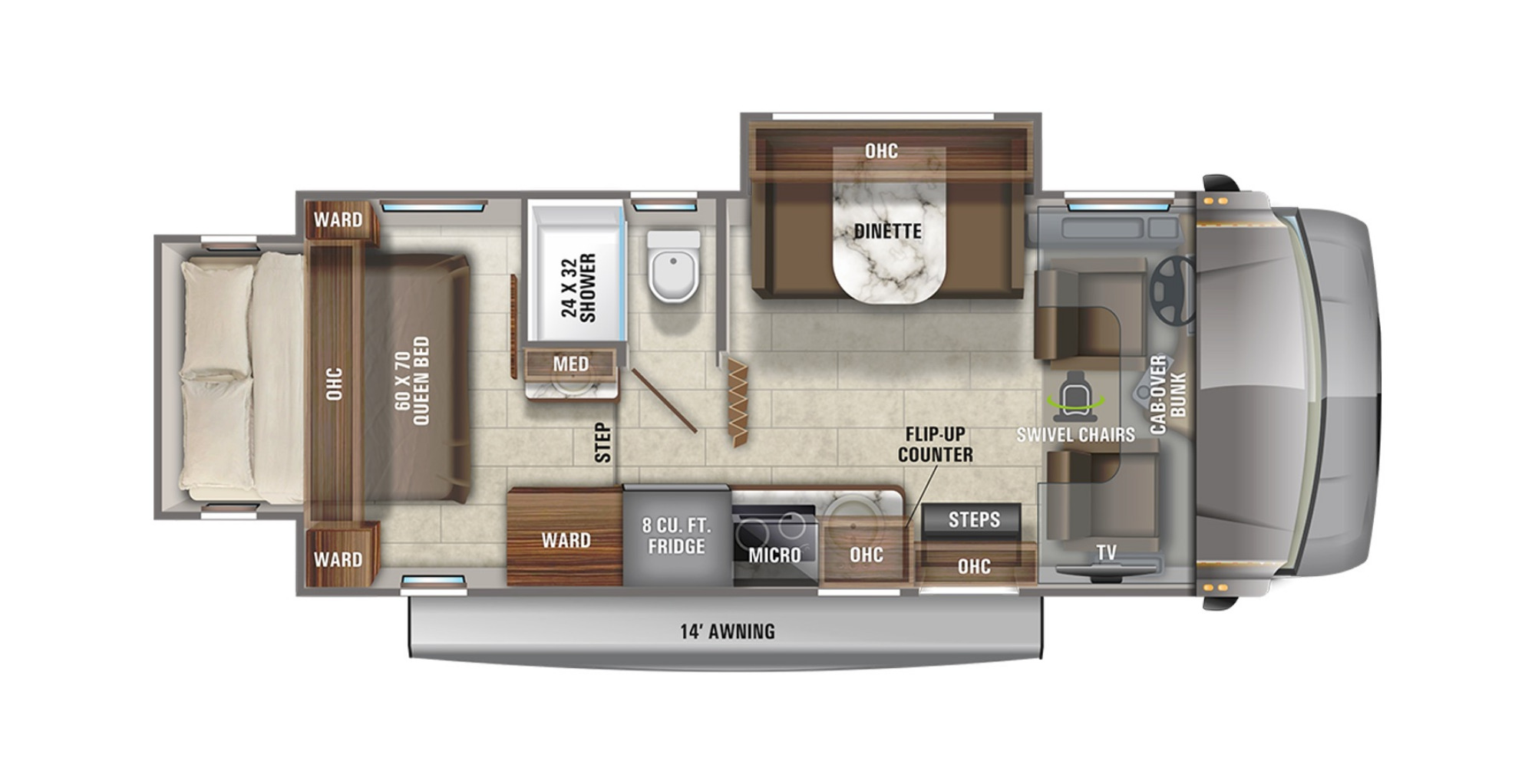 View Floor Plan for 2021 JAYCO MELBOURNE 24K