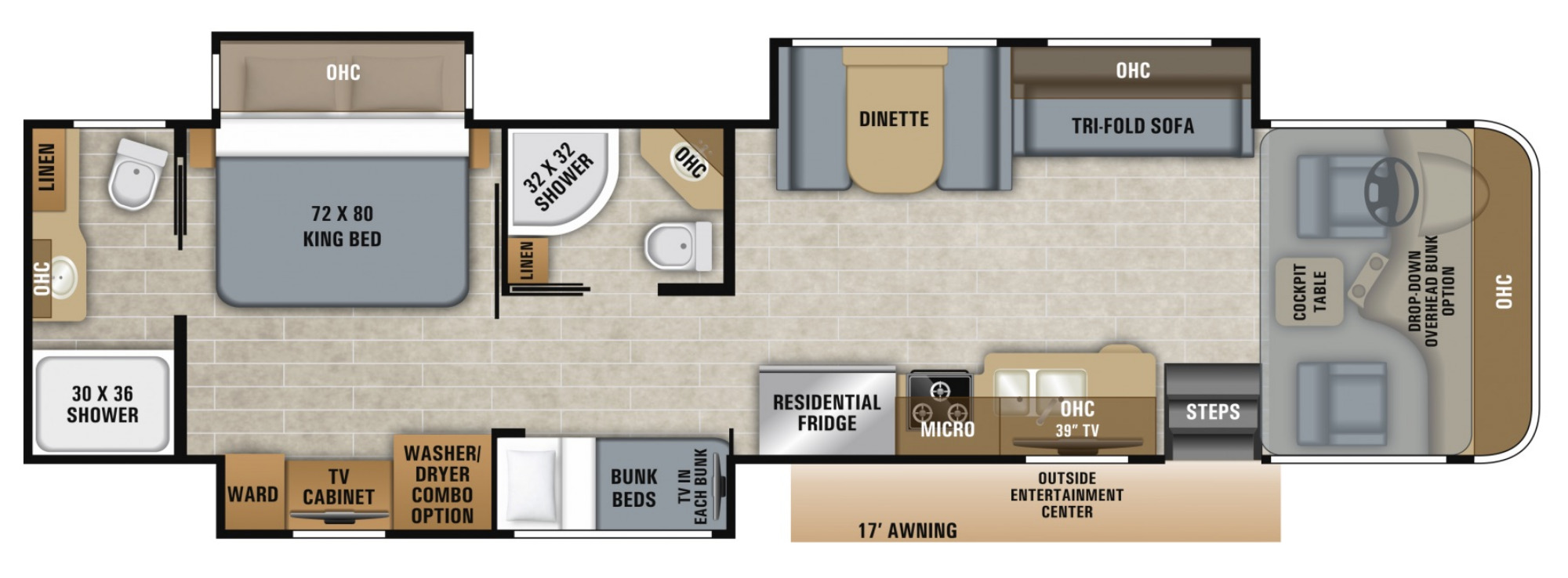 View Floor Plan for 2021 JAYCO PRECEPT 36A