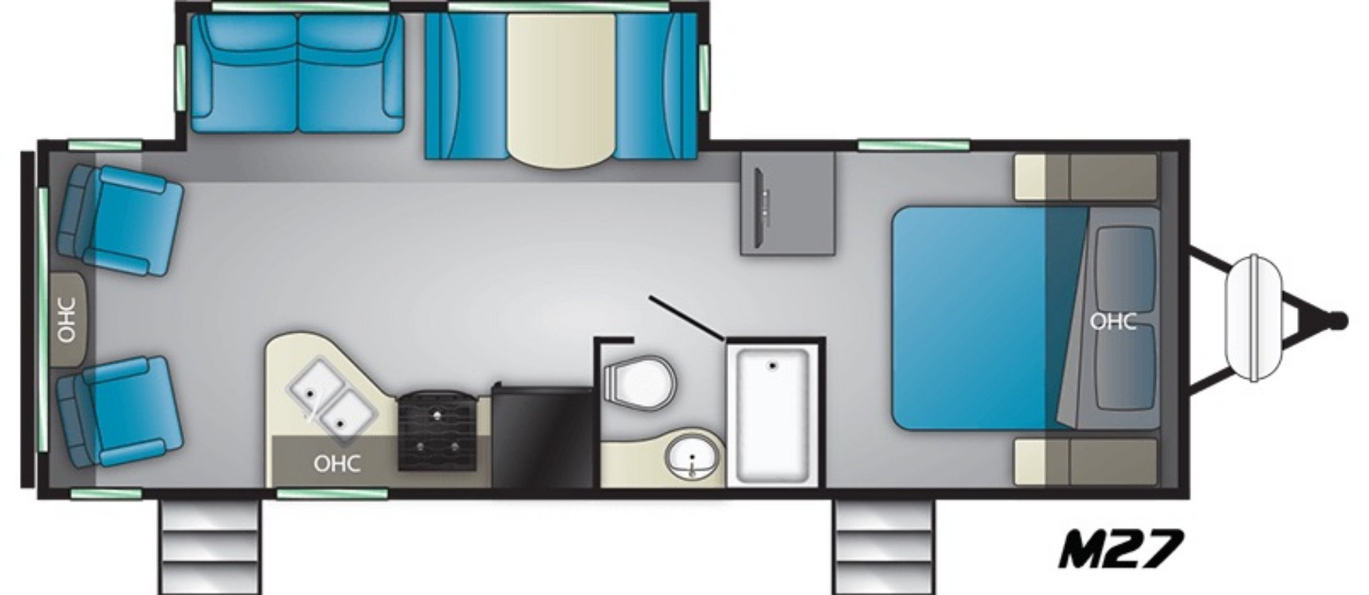View Floor Plan for 2021 HEARTLAND MALLARD IDM27
