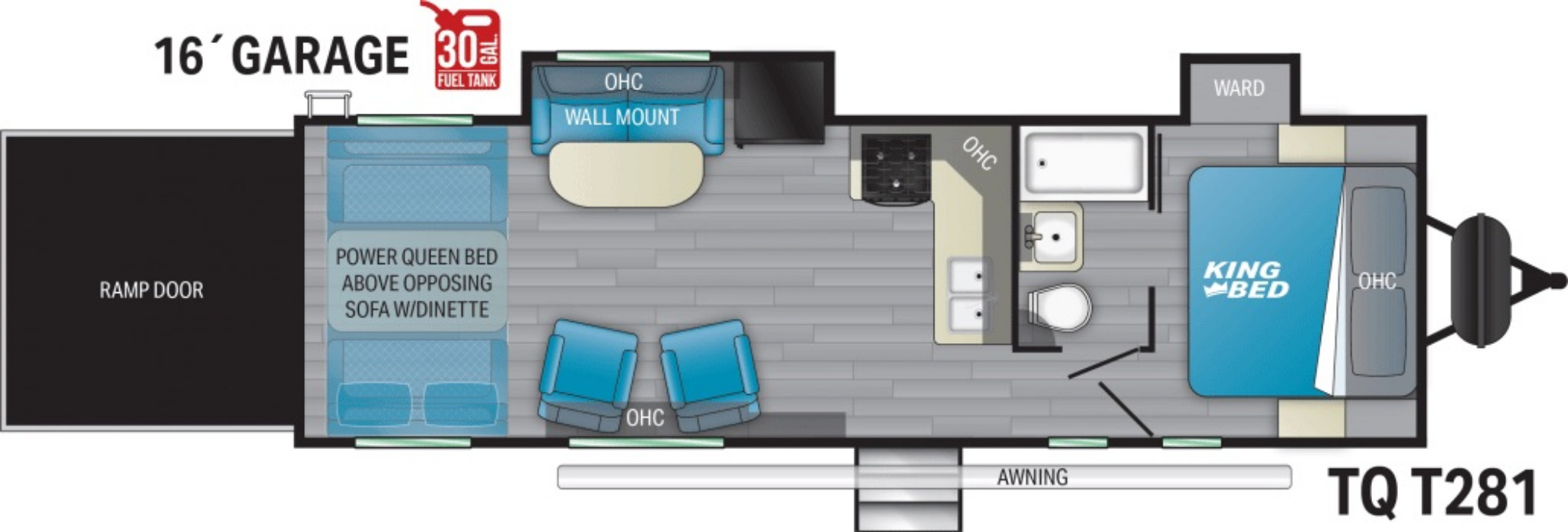View Floor Plan for 2021 HEARTLAND TORQUE T281