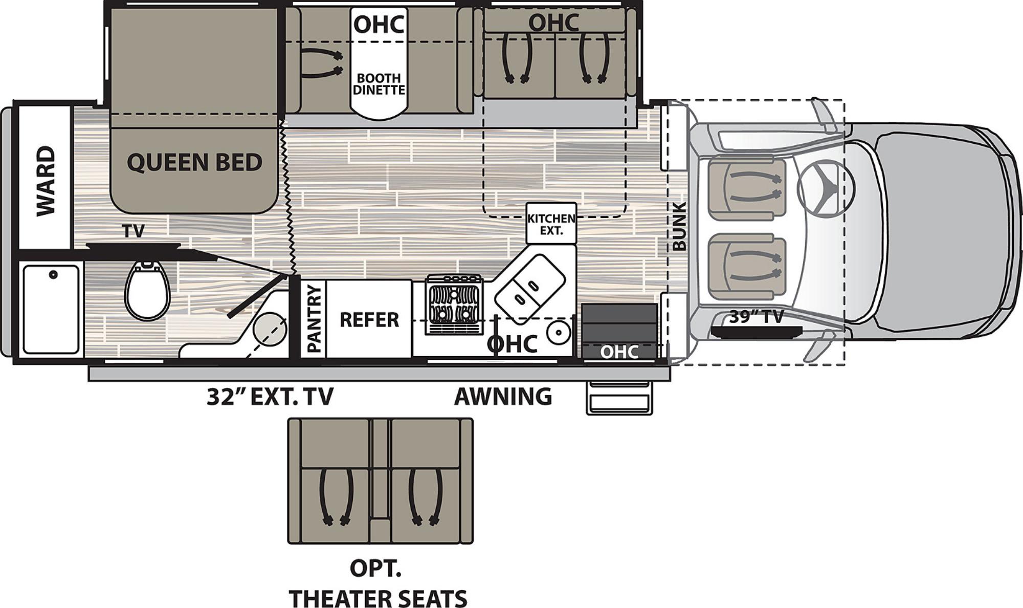 View Floor Plan for 2021 DYNAMAX ISATA 5 30FW4X4