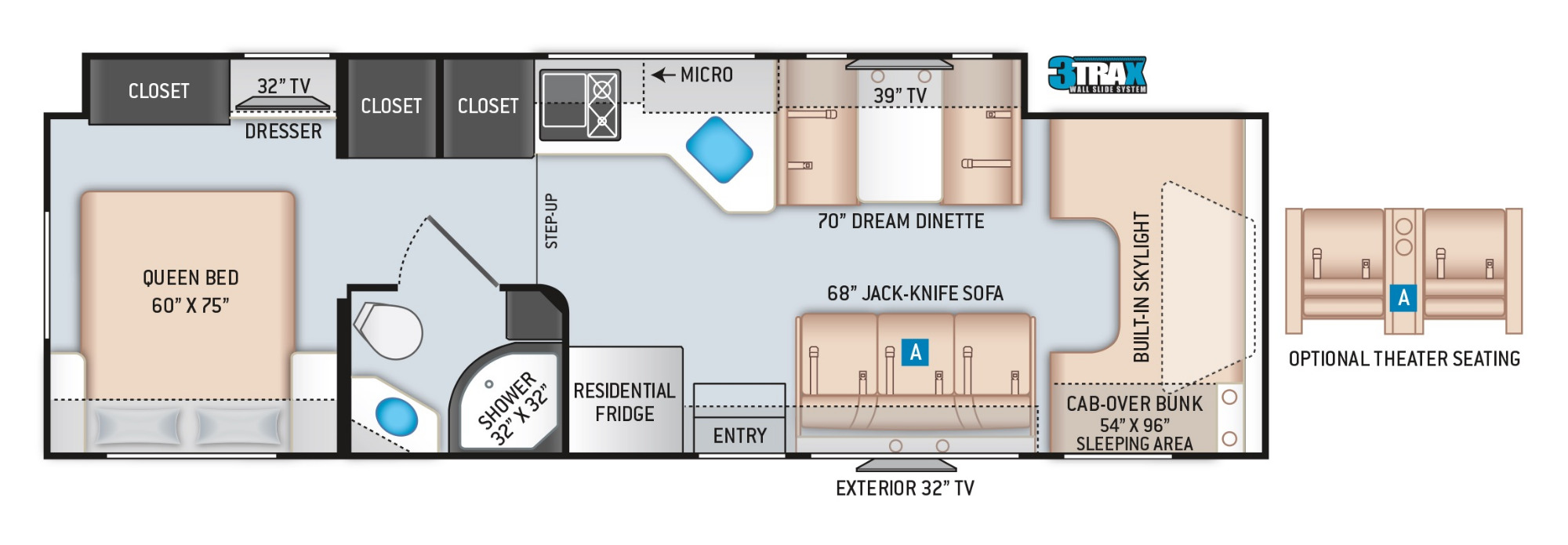 View Floor Plan for 2021 THOR QUANTUM WS31