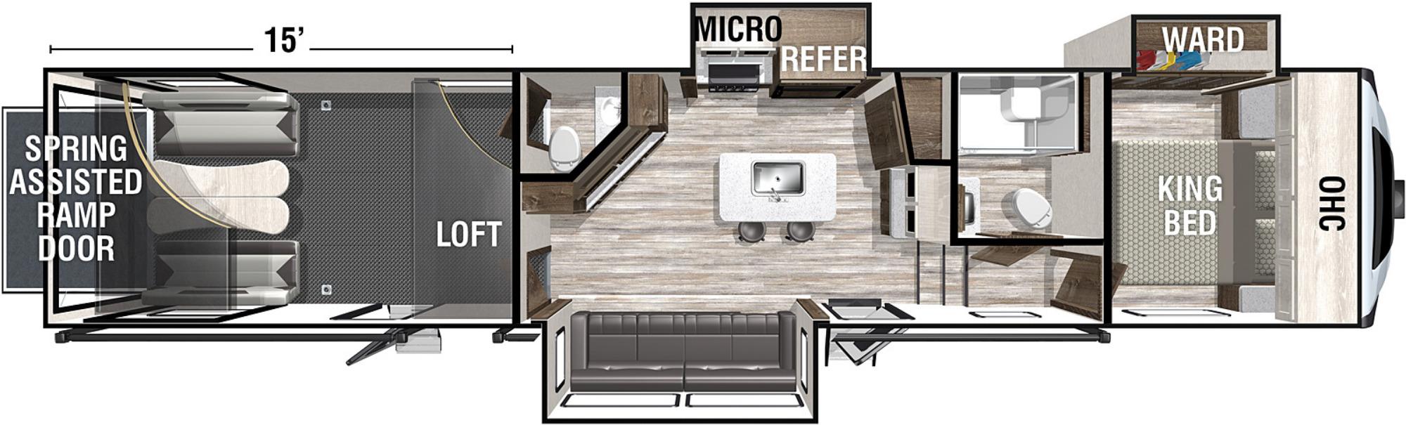 View Floor Plan for 2021 FOREST RIVER XLR NITRO 35DK5