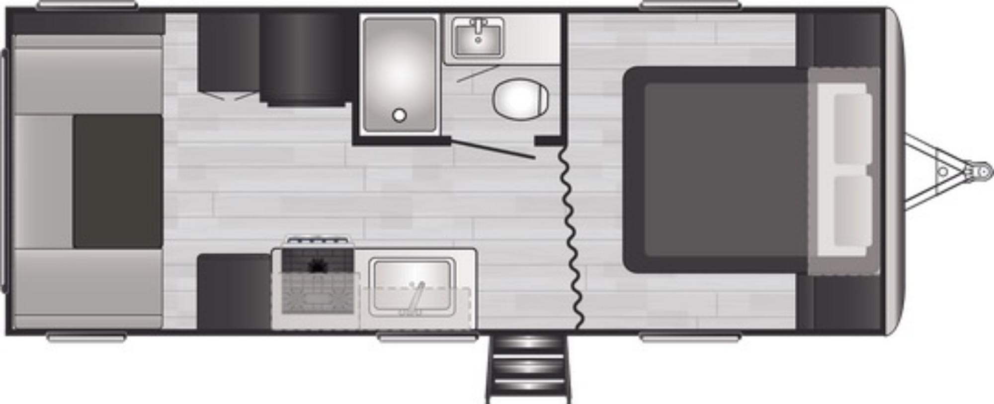 View Floor Plan for 2021 KEYSTONE SPRINGDALE 202QBWE