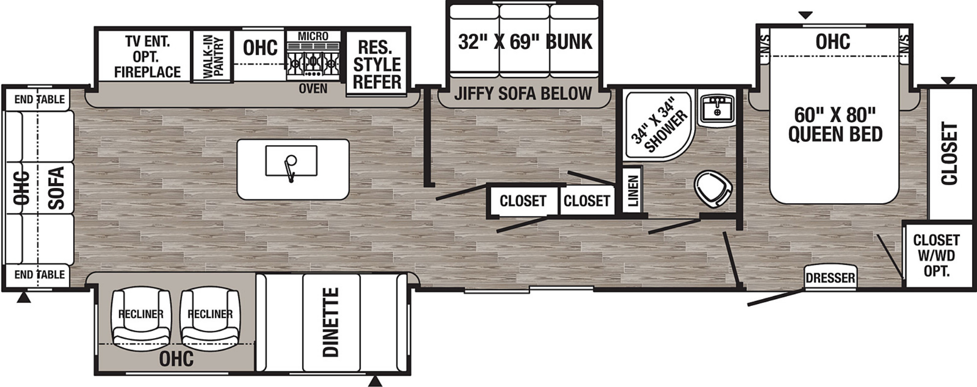View Floor Plan for 2021 FOREST RIVER PUMA 38RLB