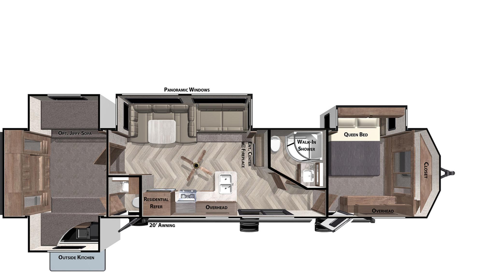View Floor Plan for 2021 FOREST RIVER SALEM VILLA CLASSIC 42QBQ