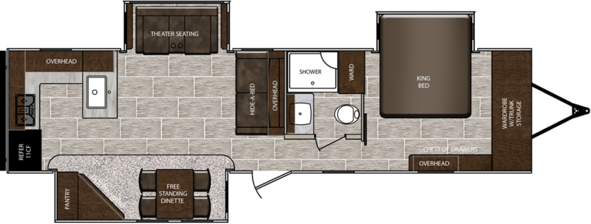 View Floor Plan for 2020 PRIME TIME LACROSSE 3311RK