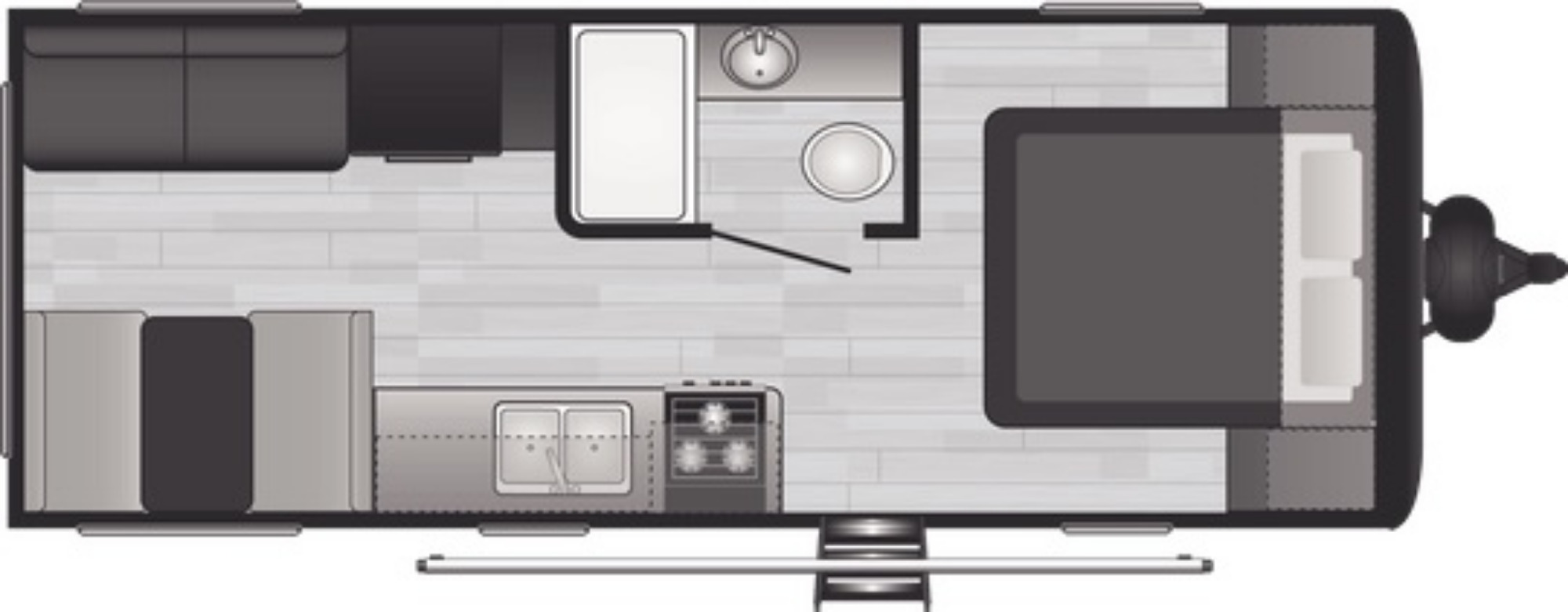 View Floor Plan for 2021 KEYSTONE HIDEOUT 20RDWES