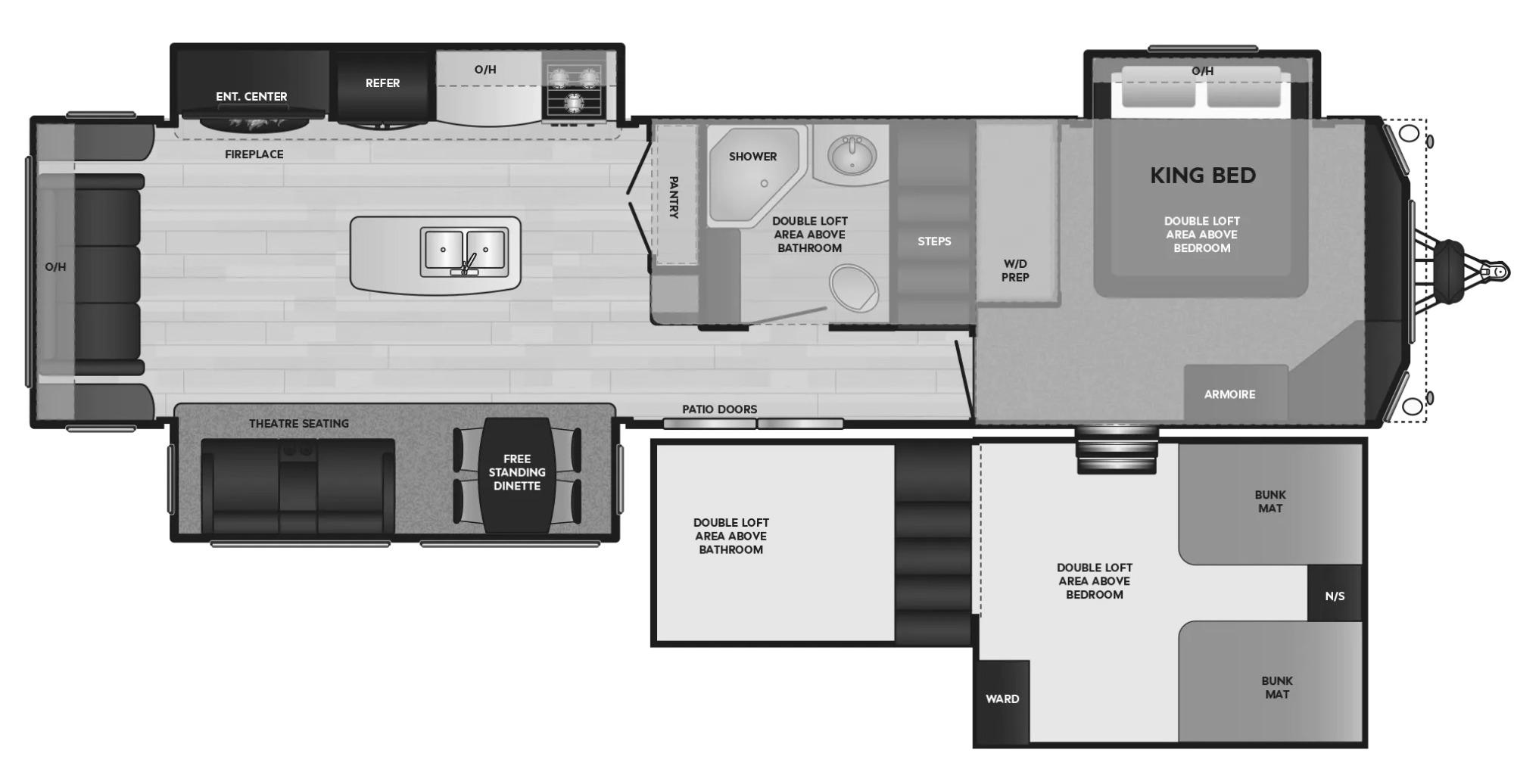 View Floor Plan for 2021 KEYSTONE RESIDENCE 40FLFT