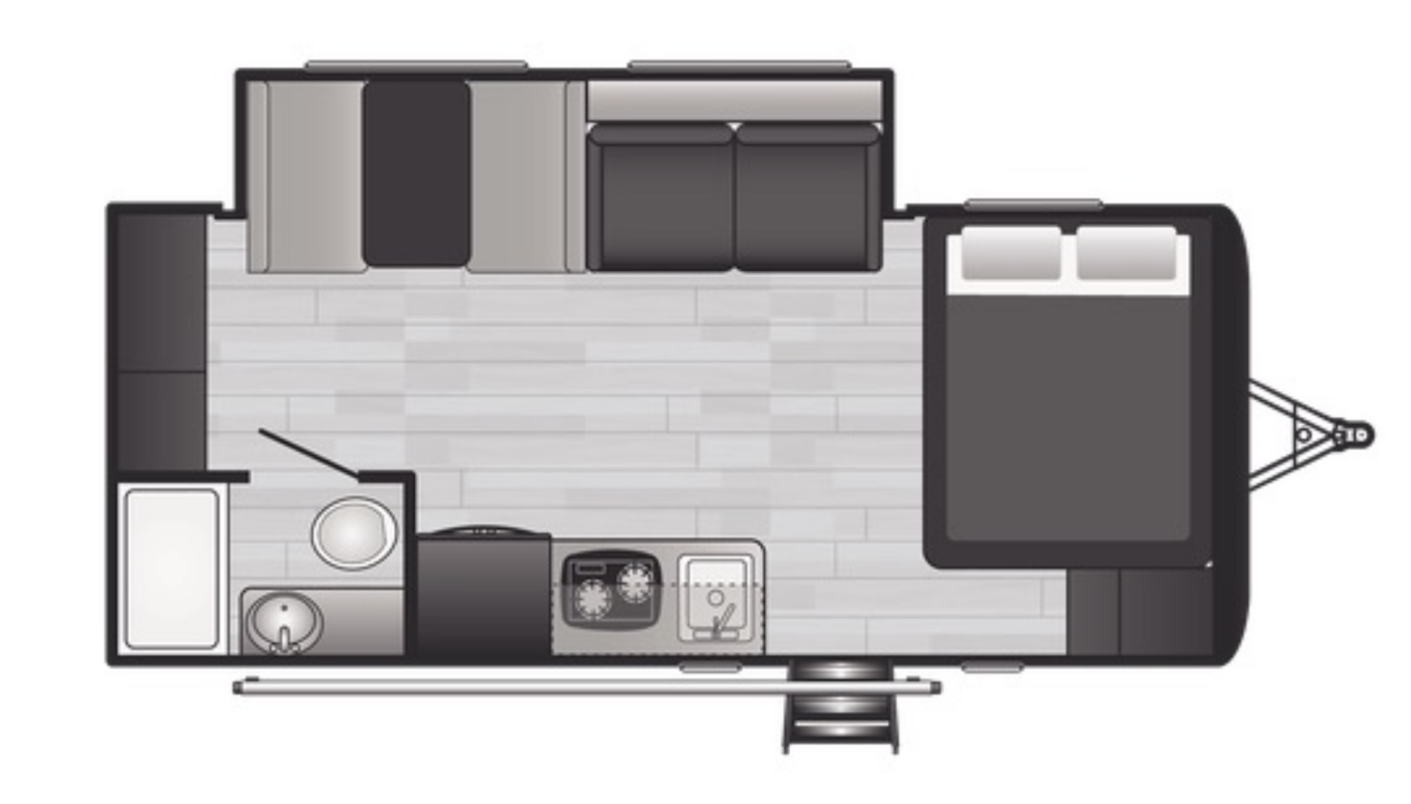 View Floor Plan for 2021 KEYSTONE HIDEOUT 186SS