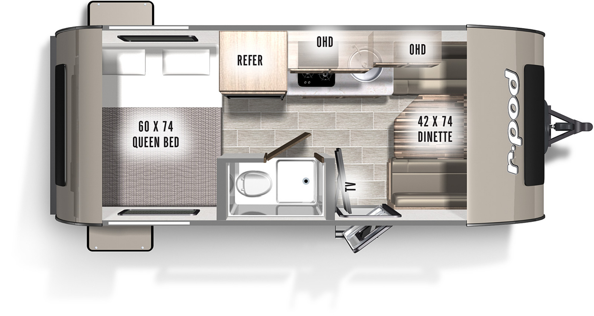 View Floor Plan for 2021 FOREST RIVER R-POD 171