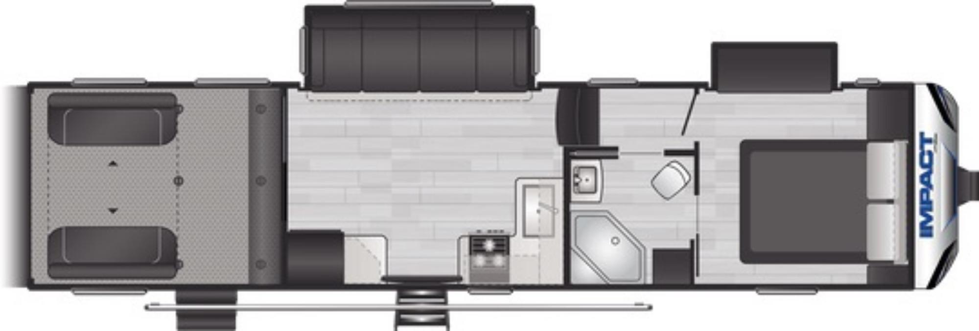 View Floor Plan for 2021 KEYSTONE IMPACT 311