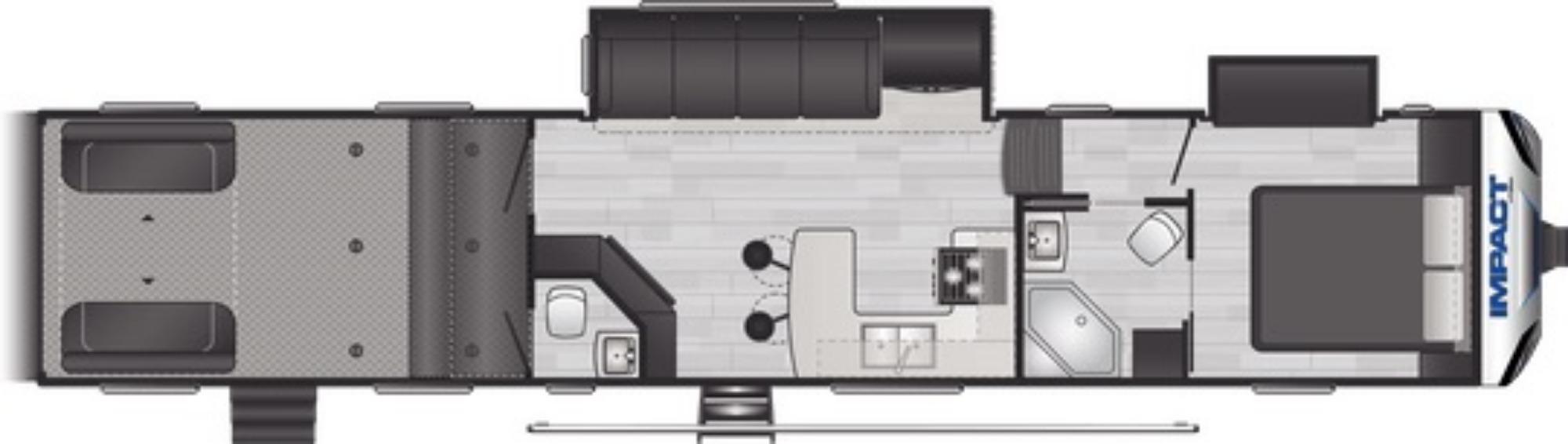 View Floor Plan for 2021 KEYSTONE IMPACT 415