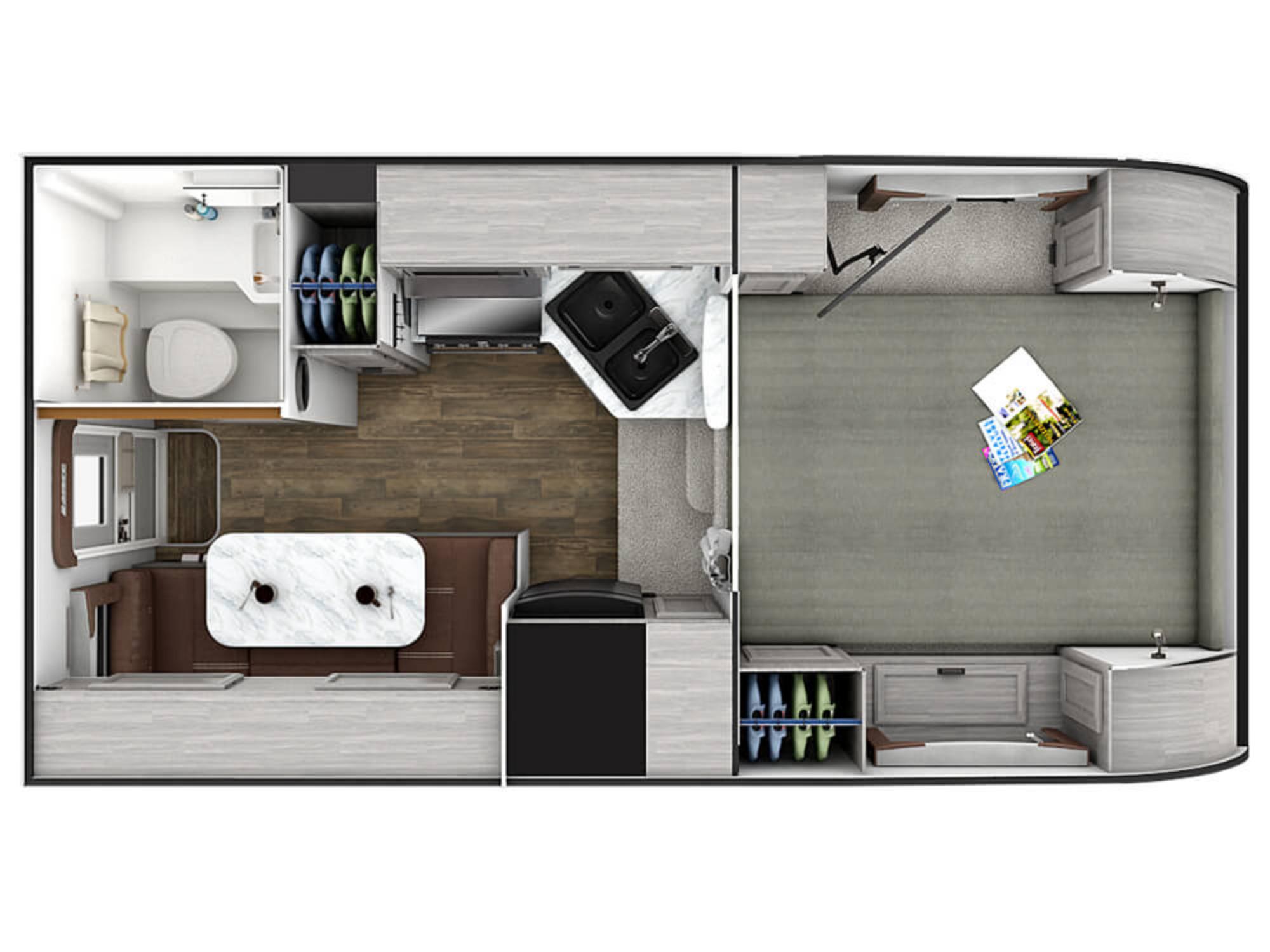 View Floor Plan for 2021 LANCE LANCE 850