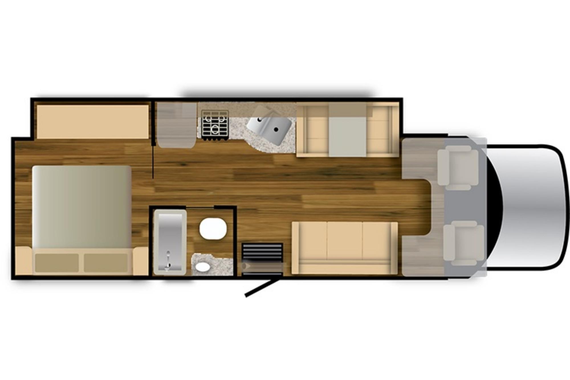 View Floor Plan for 2021 NEXUS RV REBEL 30R