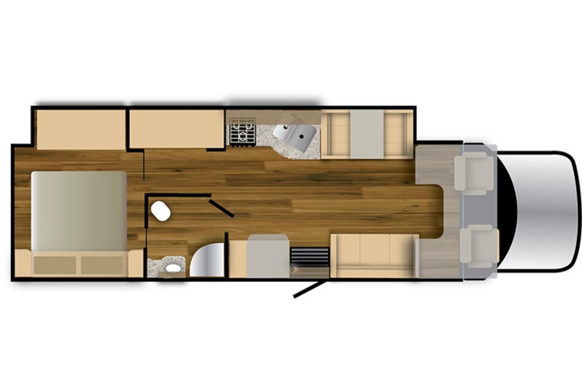 View Floor Plan for 2021 NEXUS RV REBEL 35R