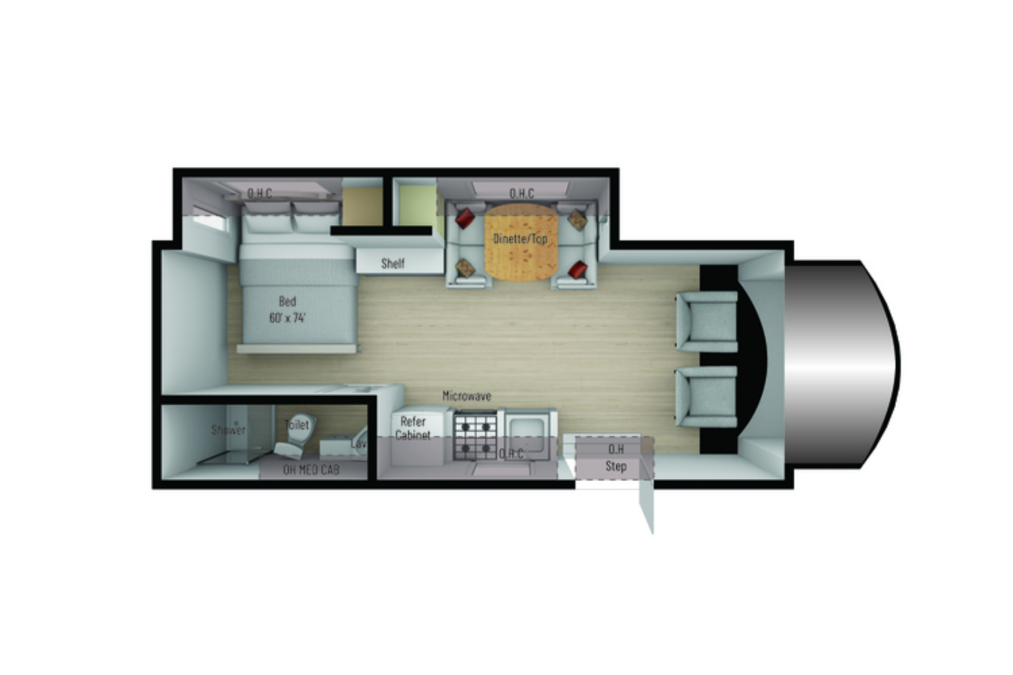 View Floor Plan for 2021 NEXUS RV TRIUMPH 24T