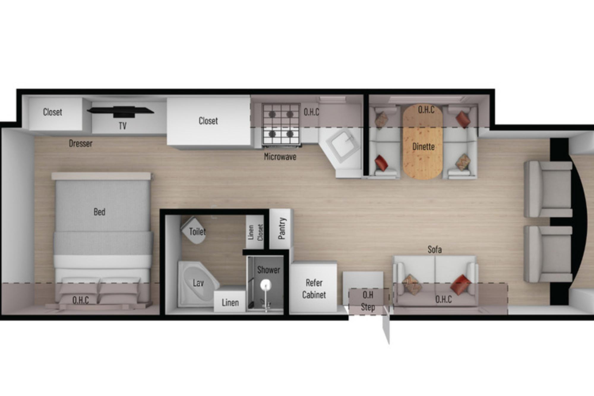 View Floor Plan for 2021 NEXUS RV TRIUMPH 30T